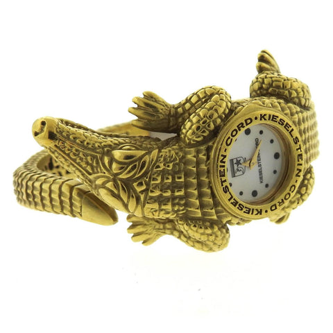 Kieselstein-Cord Ladies Yellow Gold Quartz Bracelet Wristwatch
