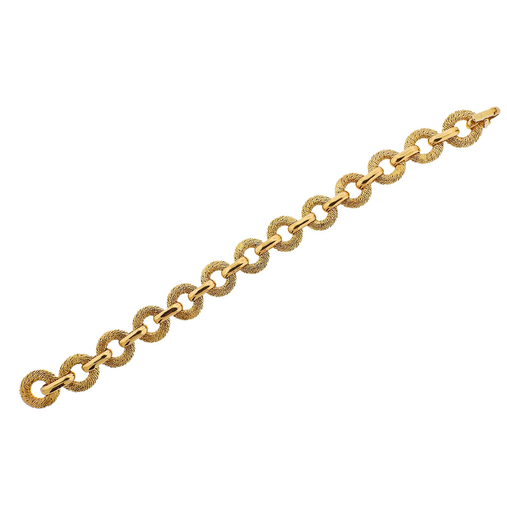 thumbnail image of George L'enfant for Fred Paris Gold Link Bracelet