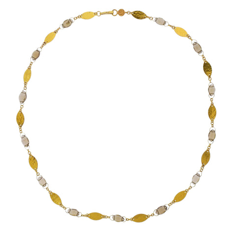 image of Gurhan Willow Bloom Leaf Gold Champagne Quartz Necklace
