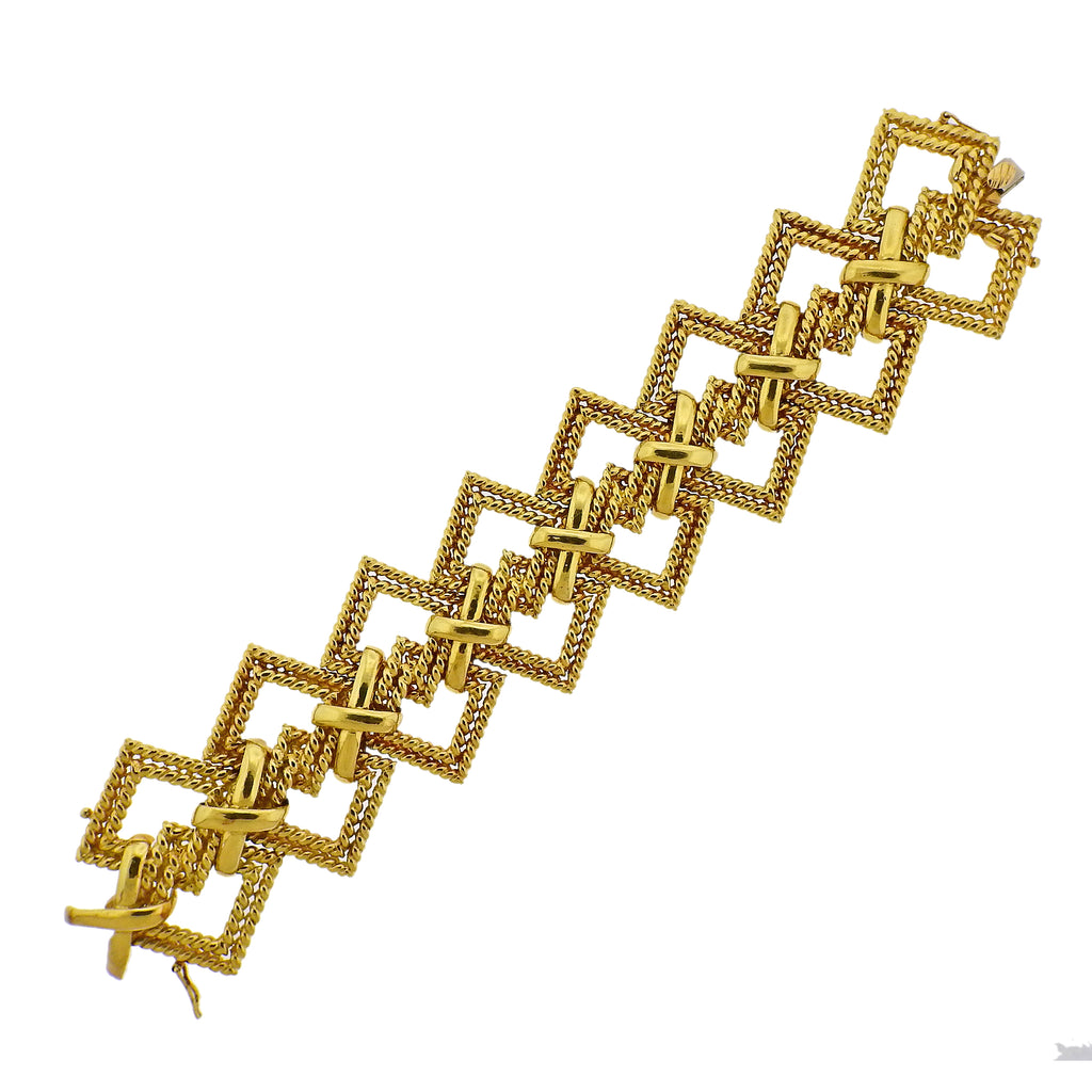 thumbnail image of 1970s Tiffany & Co Gold Wide Bracelet