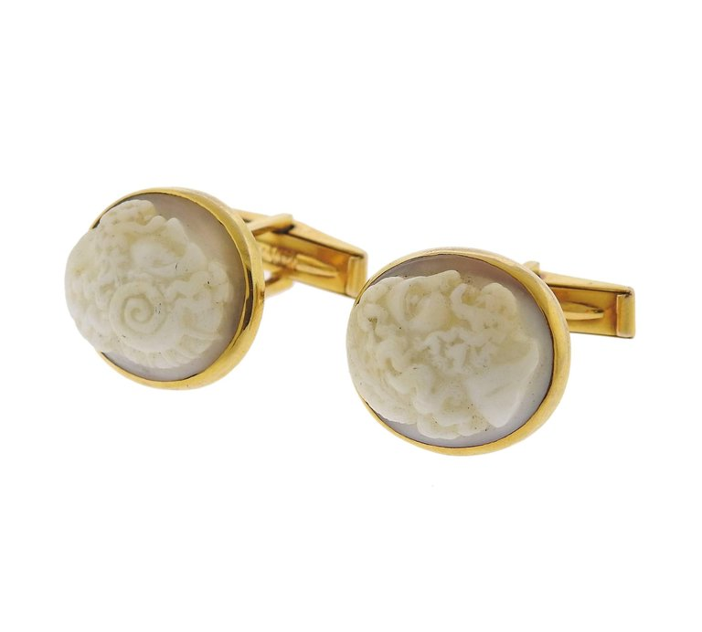 thumbnail image of Antique Cameo Gold Cufflinks