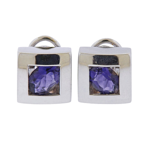 image of Pasquale Bruni Iolite Square Earrings