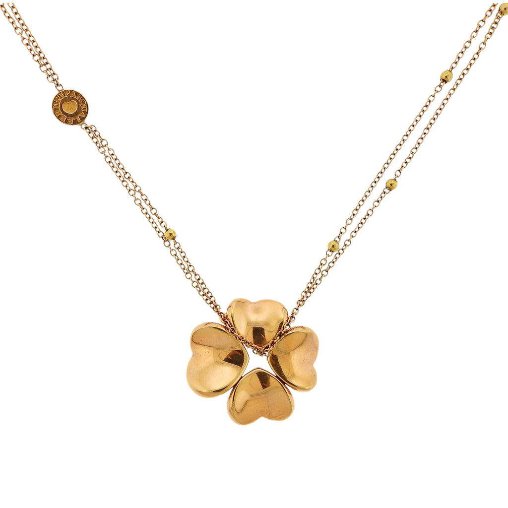 thumbnail image of Pasquale Bruni Four Leaf Clover 4Love Pendant Necklace