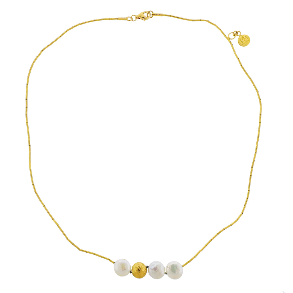 thumbnail image of Gurhan Limited Edition Lentil Pearl Gold Necklace