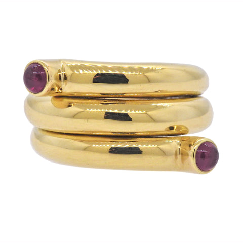 image of Tiffany & Co Schlumberger Ruby Gold Wrap Ring