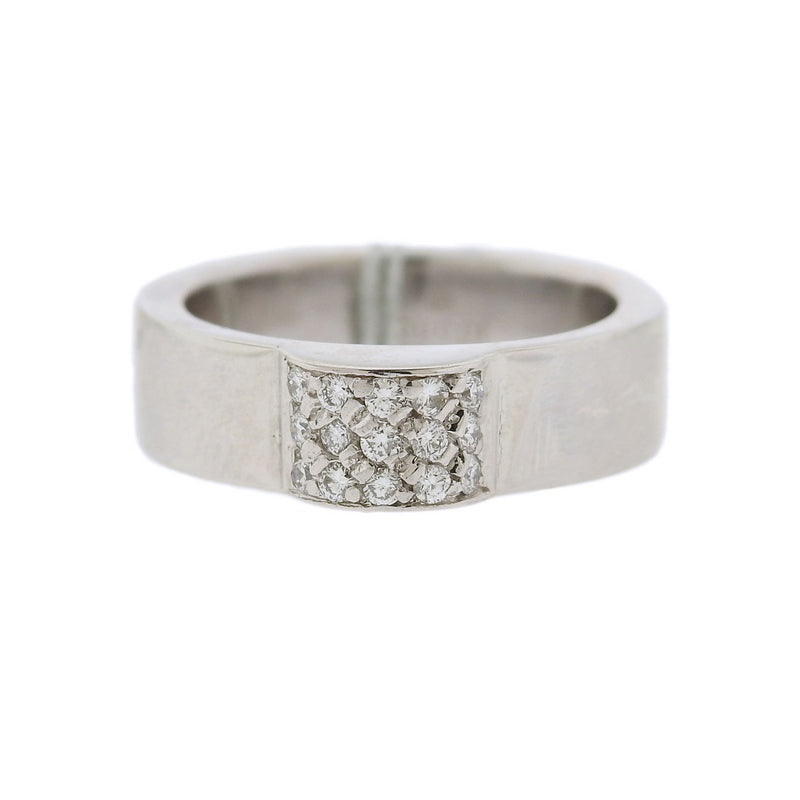 thumbnail image of Gucci 18k Gold Diamond Band Ring