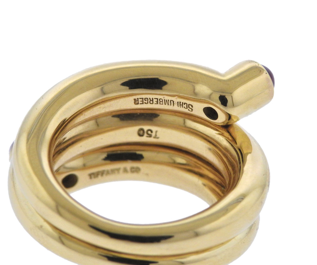thumbnail image of Tiffany & Co Schlumberger Ruby Gold Wrap Ring