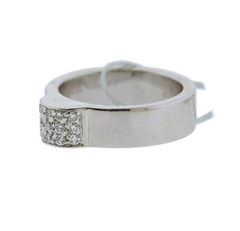 image of Gucci 18k Gold Diamond Band Ring