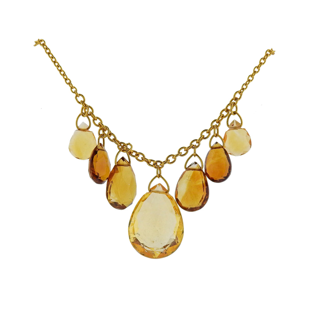 thumbnail image of Gurhan One of a Kind Delicate Dew Golden Citrine Necklace