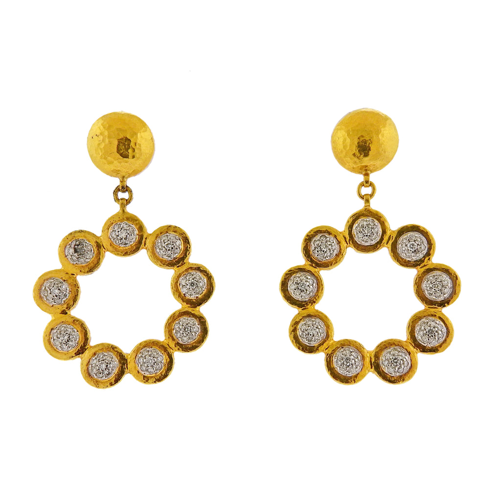 thumbnail image of Gurhan Delicate Diamond Gold Diamond Earrings
