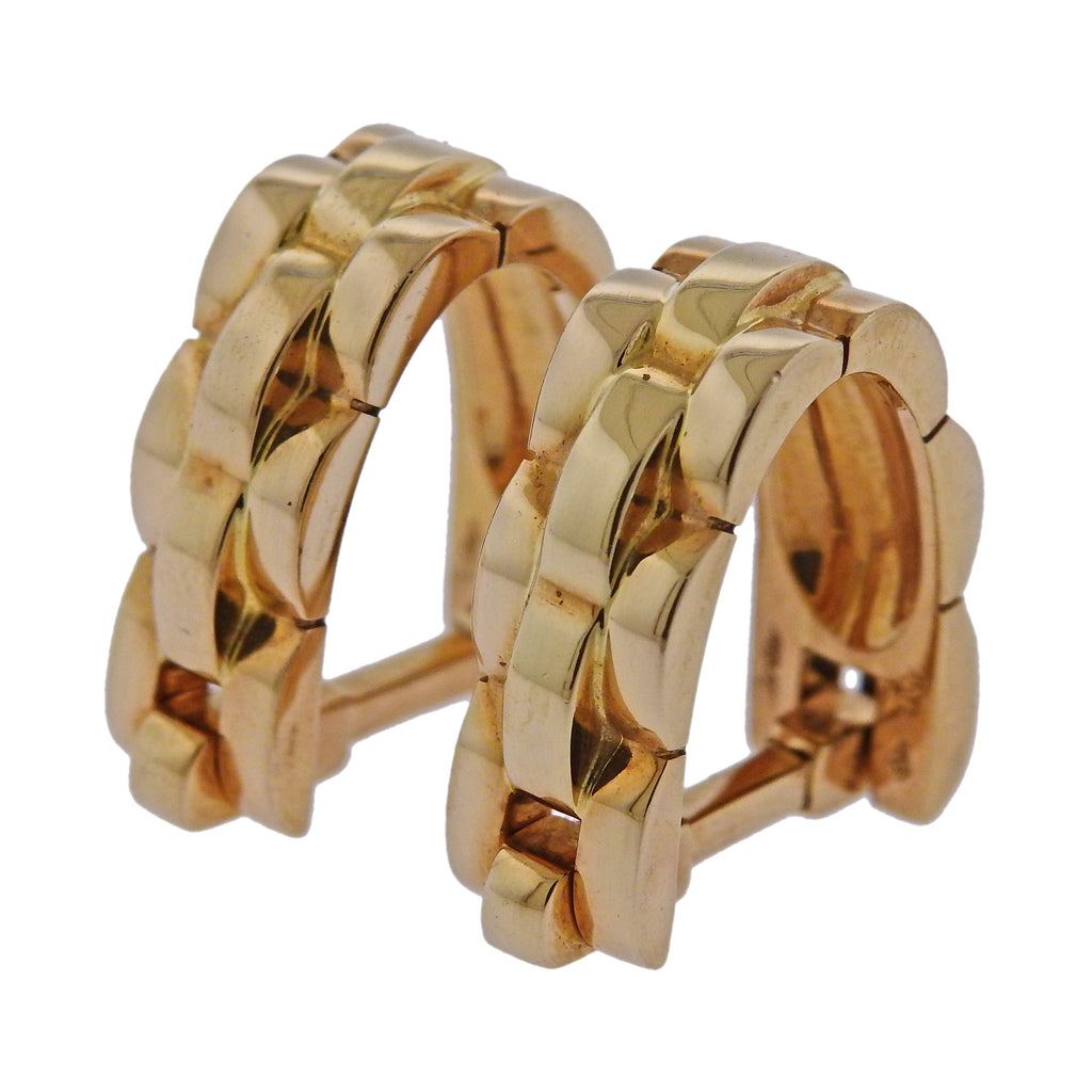 thumbnail image of Cartier Maillon Panthere Gold Stirrup Cufflinks