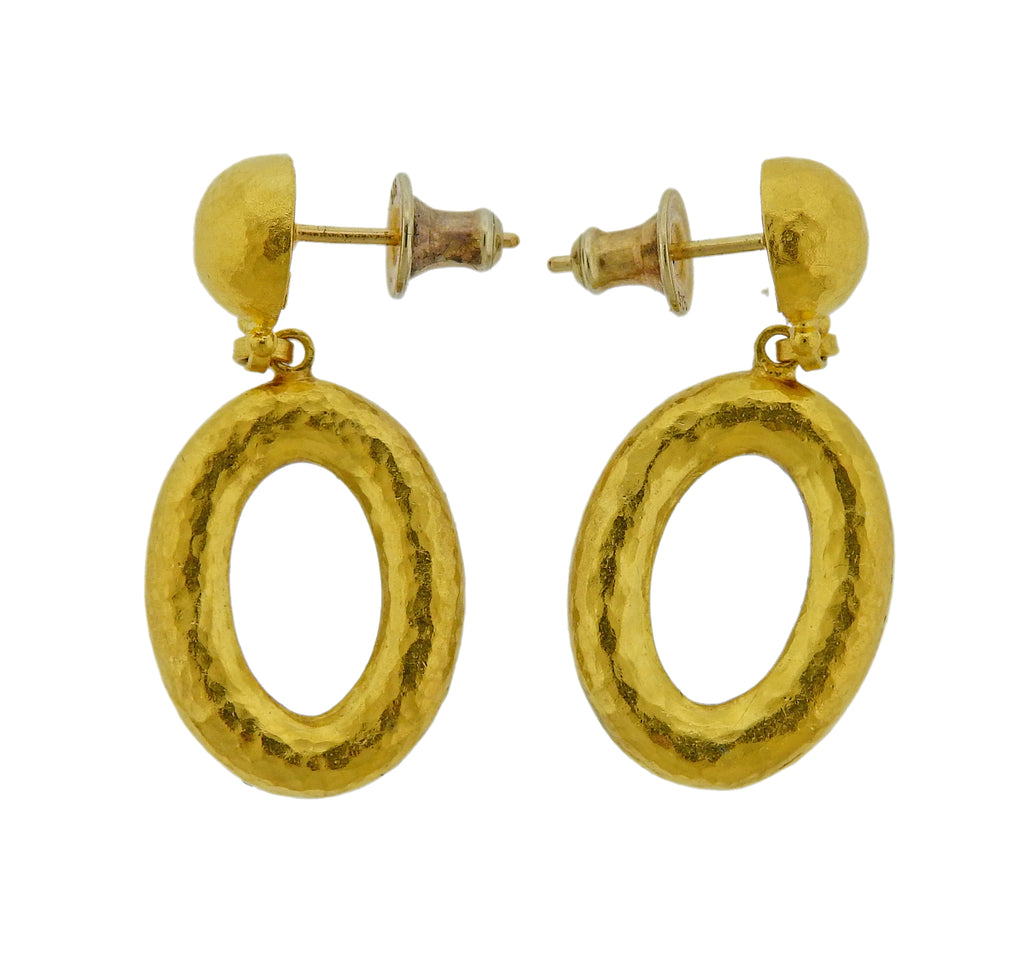 thumbnail image of Gurhan Galahad Gold Diamond Drop Earrings