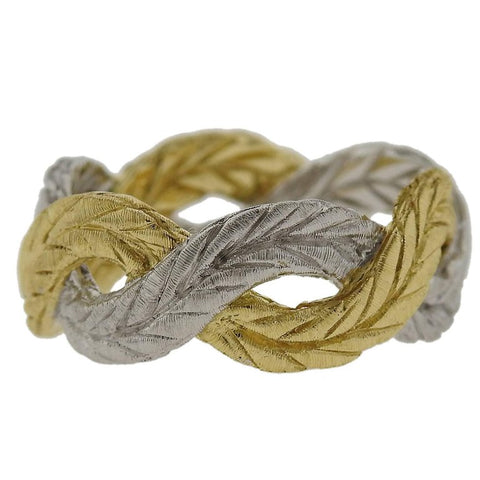 image of Buccellati Two-Color Gold Braided Band Ring
