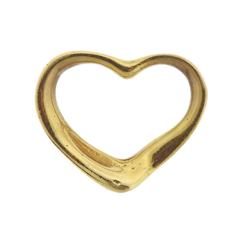 image of Tiffany & Co Peretti Open Heart 18k Gold Pendant