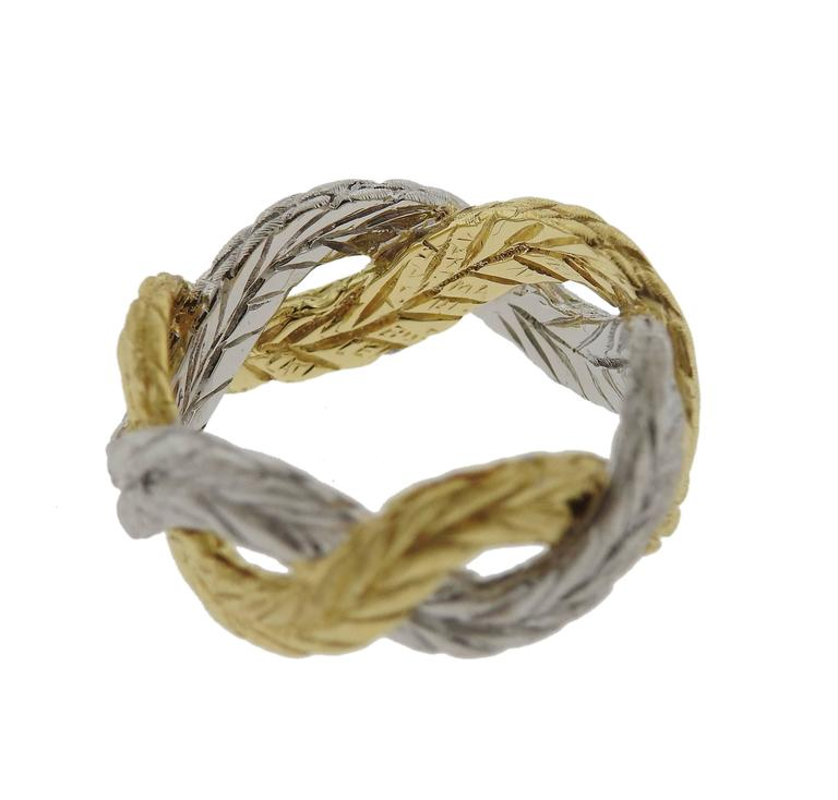 thumbnail image of Buccellati Two-Color Gold Braided Band Ring