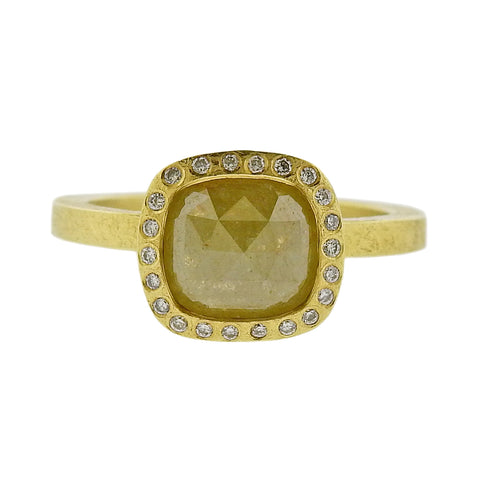 image of Todd Reed Gold 1.82ct Fancy Rose Cut Diamond Ring