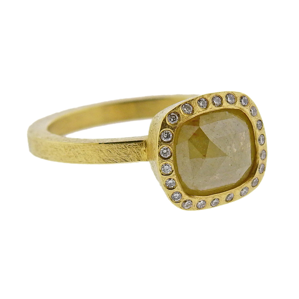 thumbnail image of Todd Reed Gold 1.82ct Fancy Rose Cut Diamond Ring