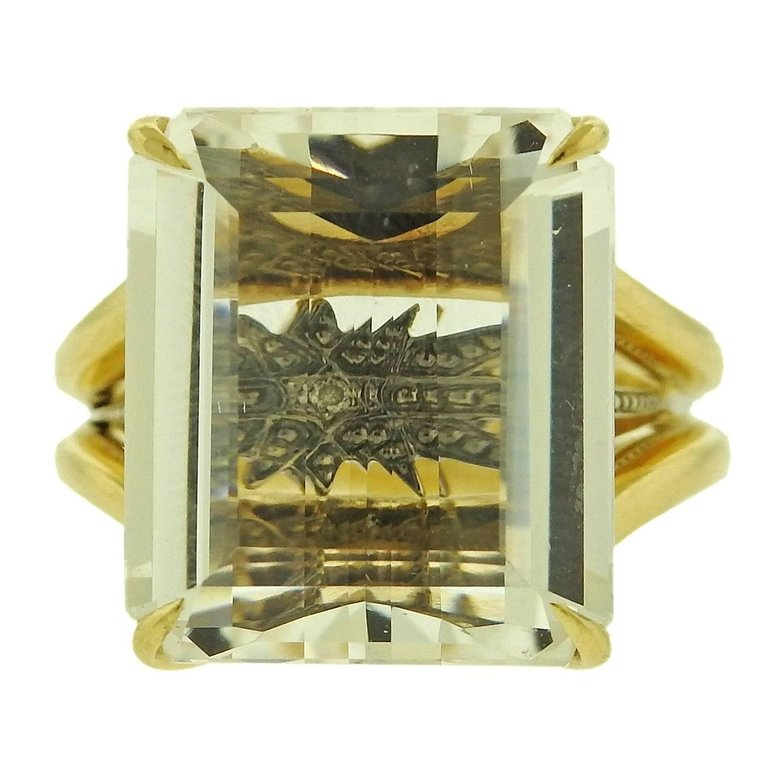 thumbnail image of H. Stern Stars Crystal Gold Ring
