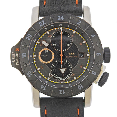 image of Glycine Airman Airfighter Automatic GMT Chronograph Watch 3921.19.LB96OB