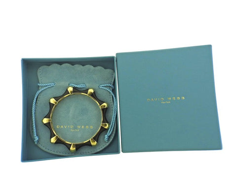 image of David Webb Ebony Gold Bangle Bracelet