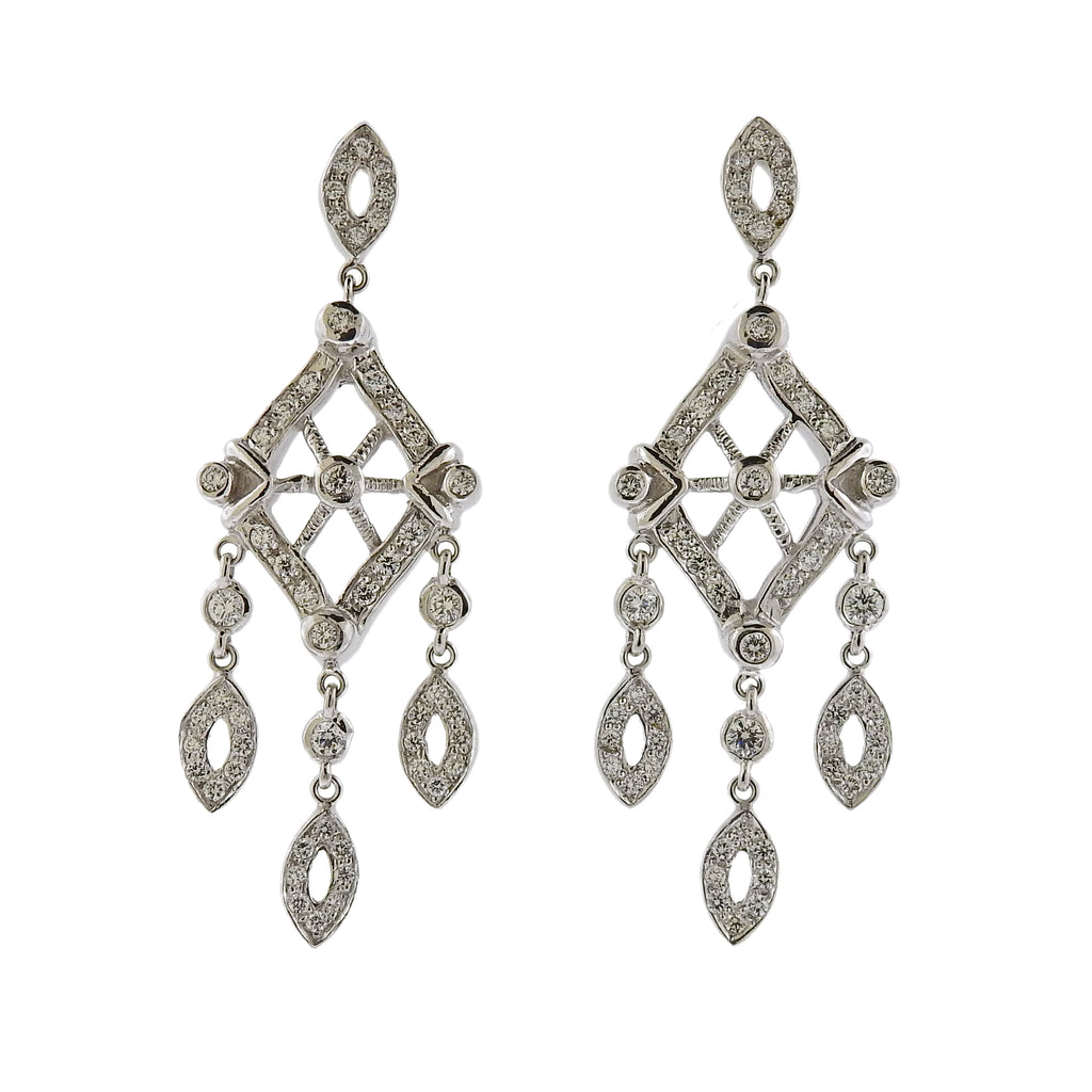 thumbnail image of Doris Panos Anastasia Gold Diamond Drop Earrings