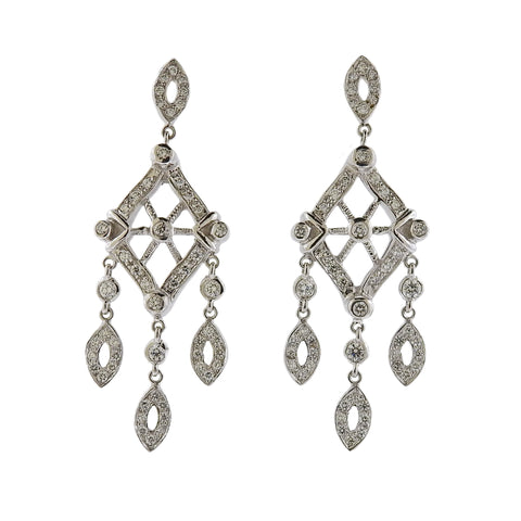image of Doris Panos Anastasia Gold Diamond Drop Earrings