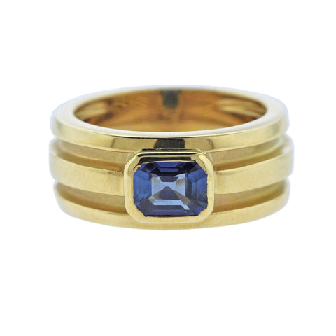 image of Tiffany & Co Atlas Sapphire Gold Ring