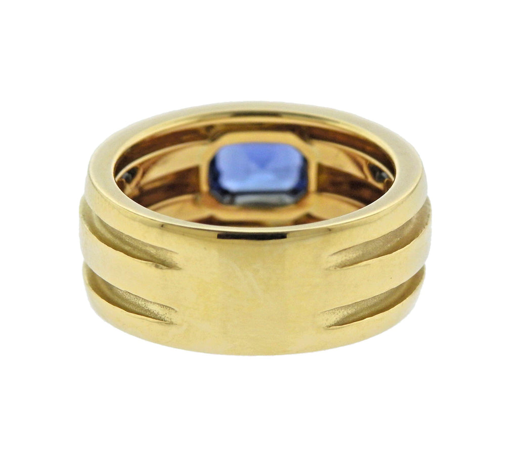 thumbnail image of Tiffany & Co Atlas Sapphire Gold Ring