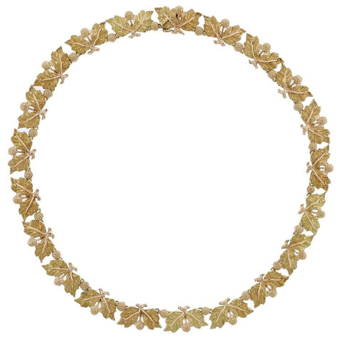 image of Buccellati Leaf Motif Gold Necklace
