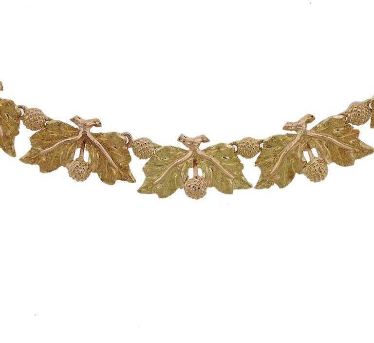 thumbnail image of Buccellati Leaf Motif Gold Necklace