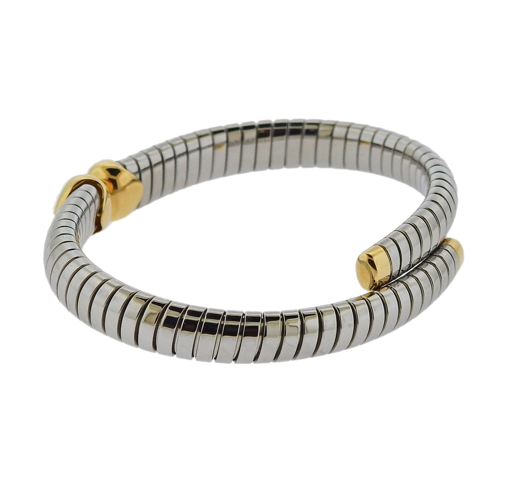 thumbnail image of Bulgari Gold Steel Doppio Bracelet