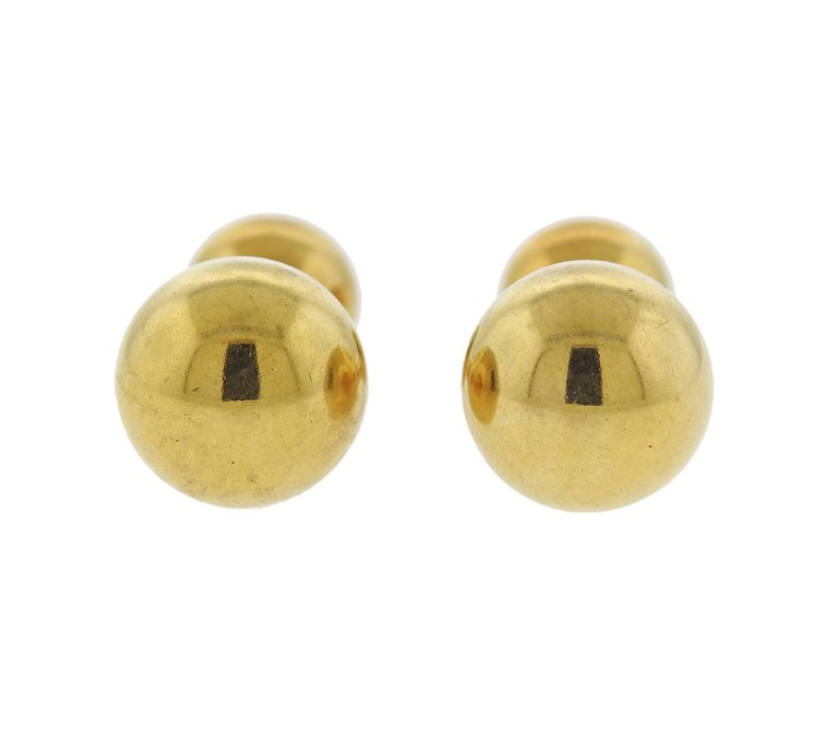 thumbnail image of Cartier Dumbbell Gold Cufflinks