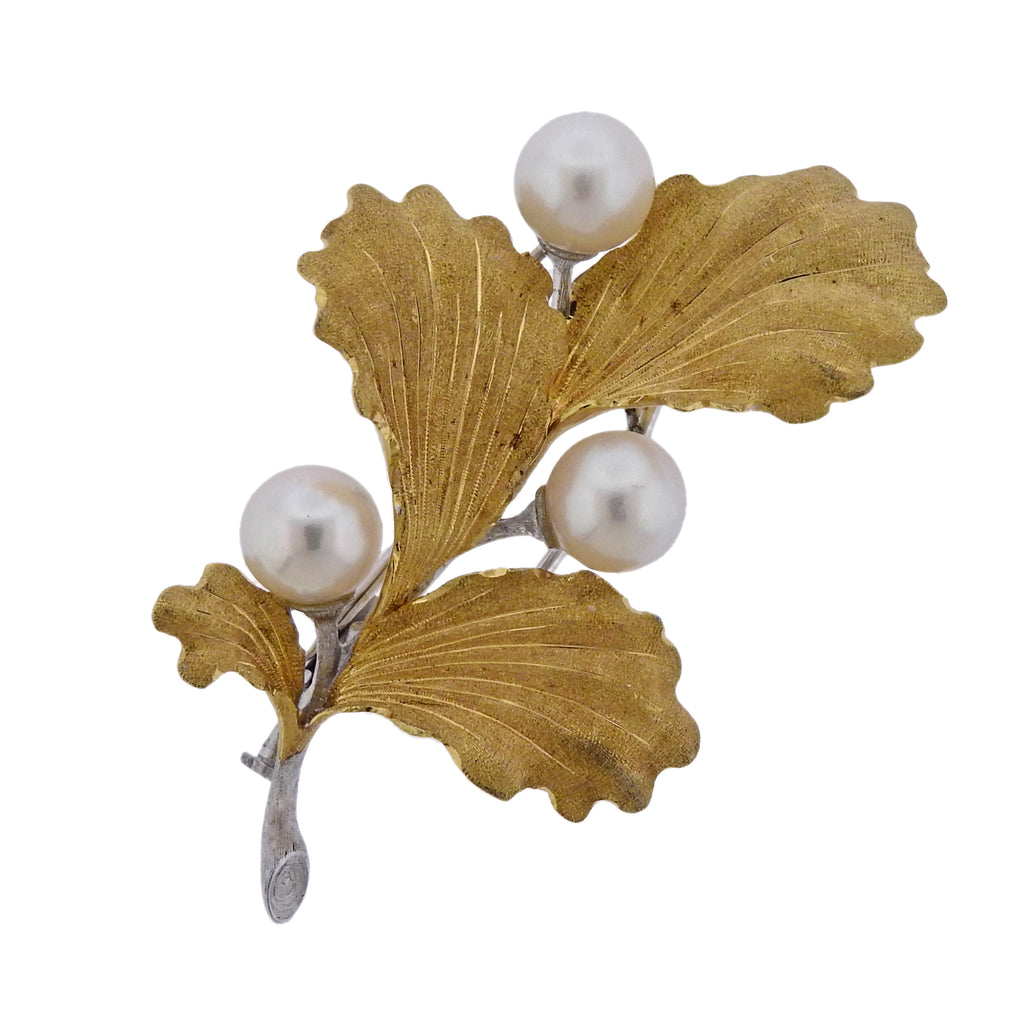 thumbnail image of Buccellati 18k Gold Pearl Brooch Pin
