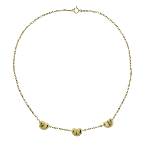 image of Tiffany & Co Elsa Peretti Bean Gold Necklace