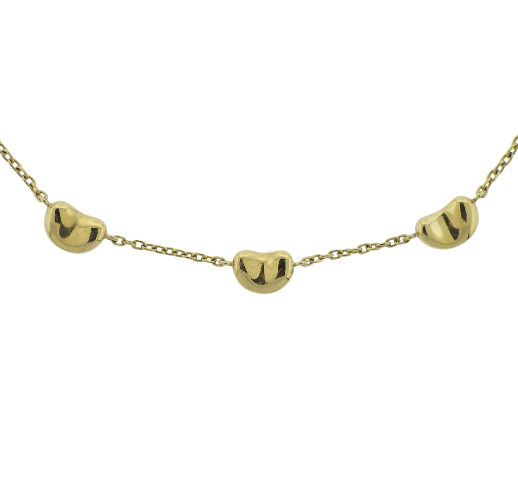 thumbnail image of Tiffany & Co Elsa Peretti Bean Gold Necklace