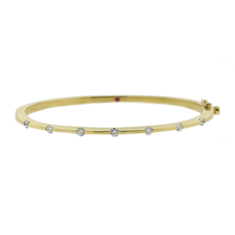 Roberto Coin Classica Parisienne 18k Yellow Gold Diamond Bracelet