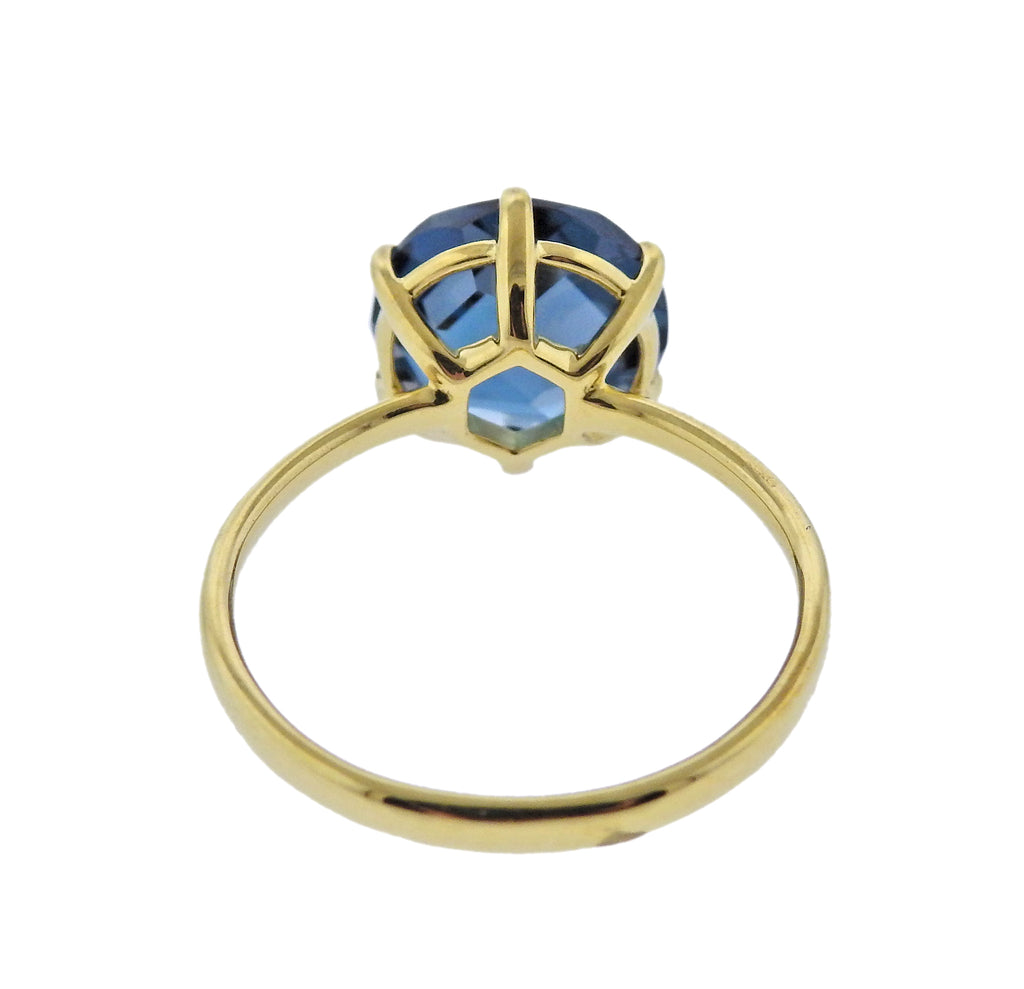 thumbnail image of Ippolita Rock Candy Single London Blue Topaz 18k Gold Ring