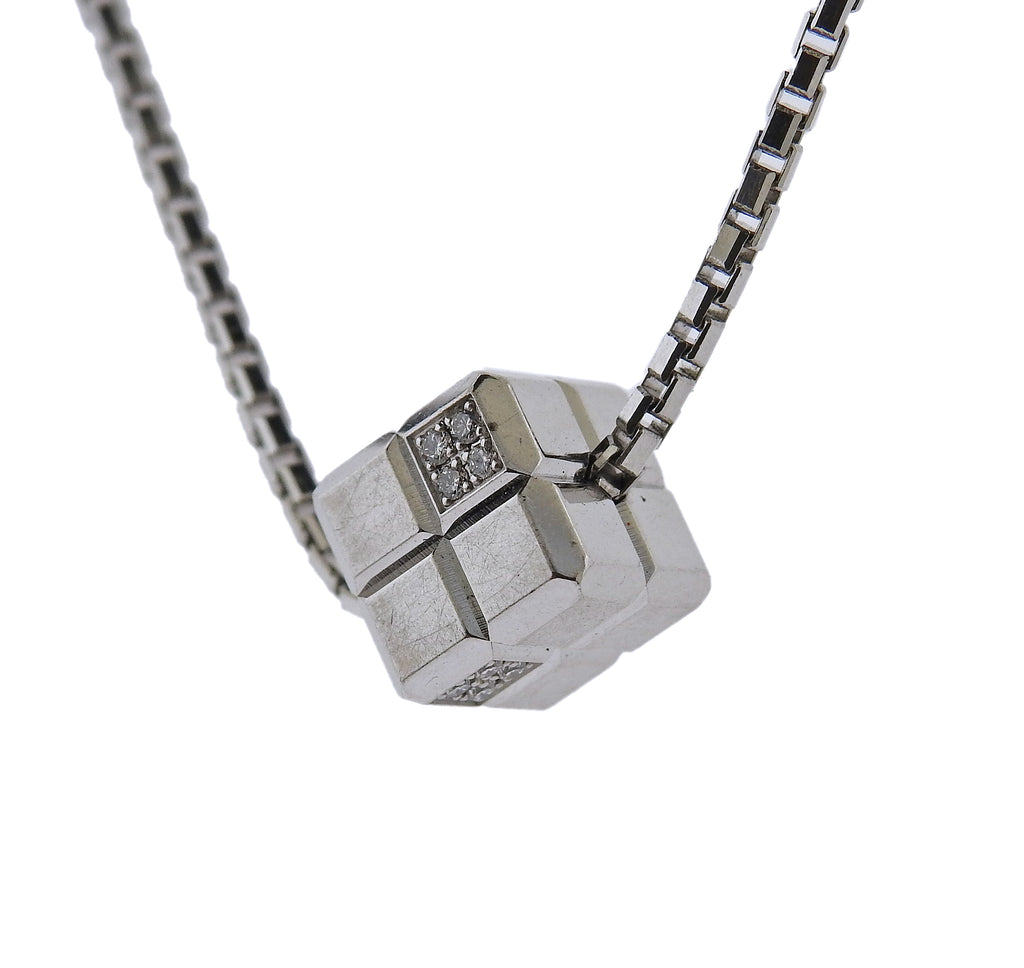 thumbnail image of Chopard Ice Cube 18k Gold Diamond Pendant Necklace 79/3792