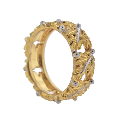 image of Buccellati Leaf Gold Band Ring