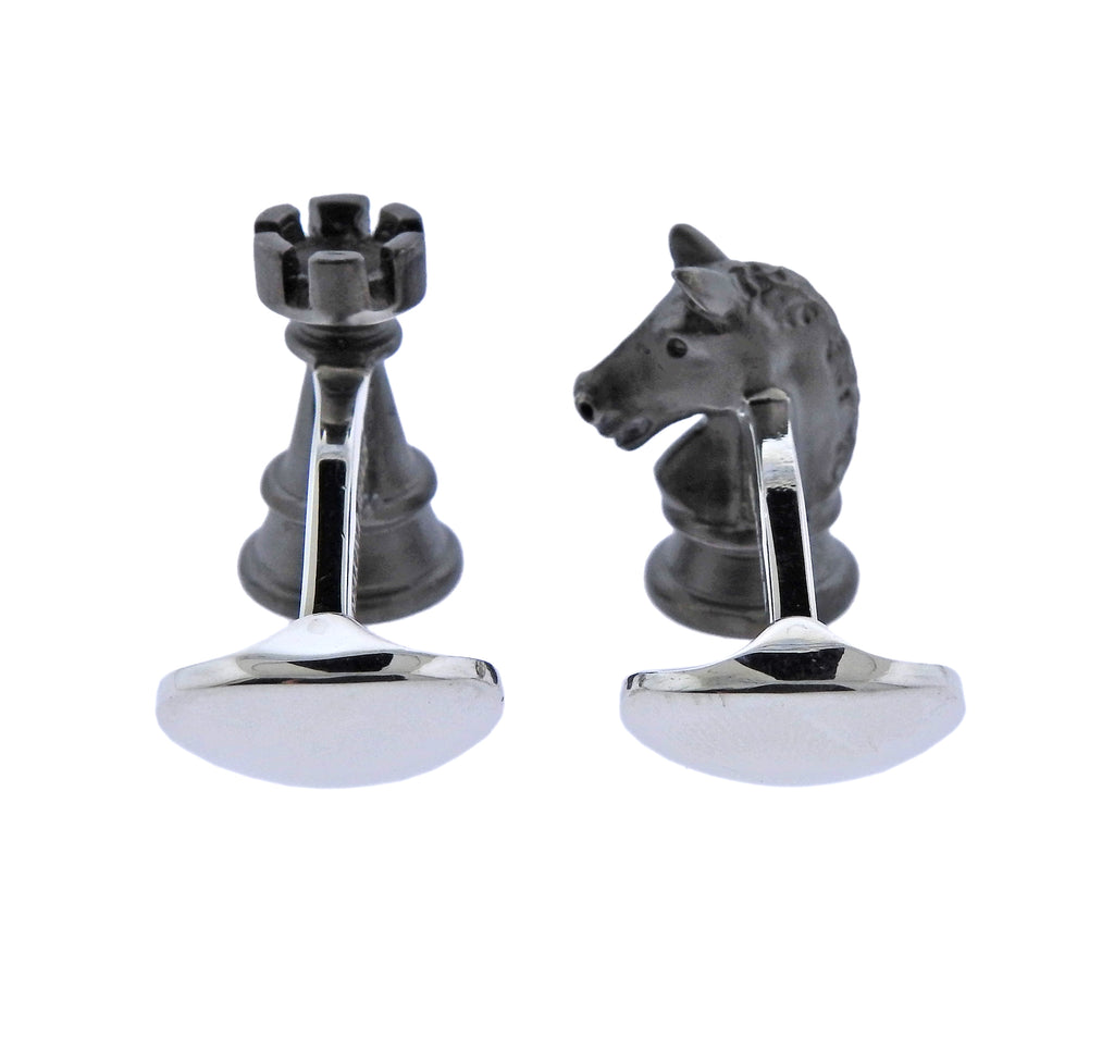 thumbnail image of Deakin & Francis Chess Silver Cufflinks