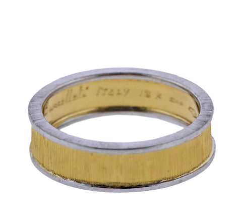 image of Buccellati Two Color Gold Wedding Band Ring