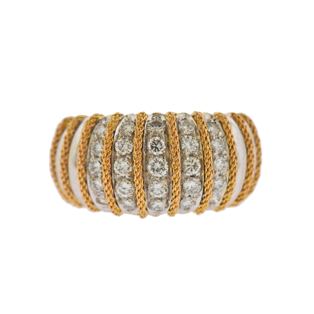 thumbnail image of Continental Diamond Gold Ring