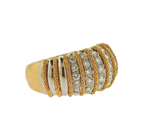 image of Continental Diamond Gold Ring