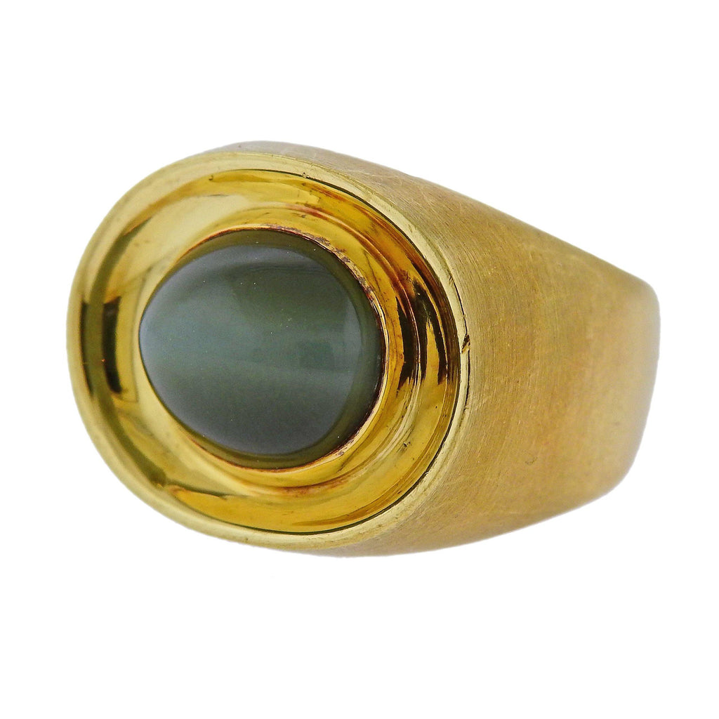 thumbnail image of Antonio Bernardo Cat's Eye Chrysoberyl Gold Ring