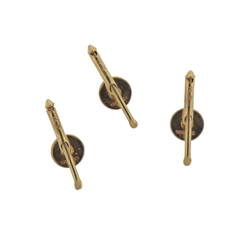 thumbnail image of Tiffany & Co Larter & Son Diamond Gold Stud Set