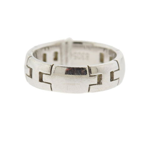 image of Hermes H 18k Gold Band Ring