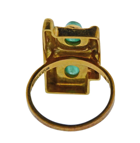 image of Burle Marx Emerald Gold Ring