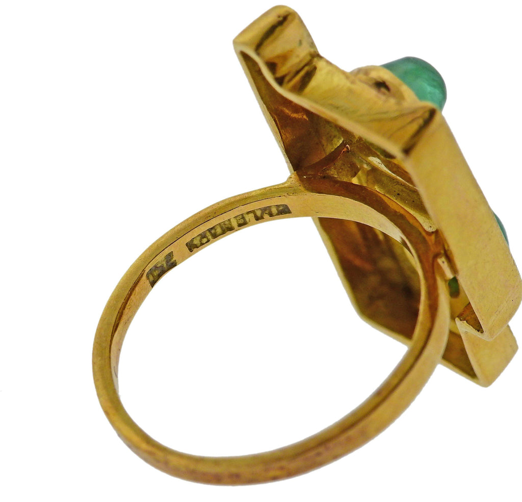 thumbnail image of Burle Marx Emerald Gold Ring