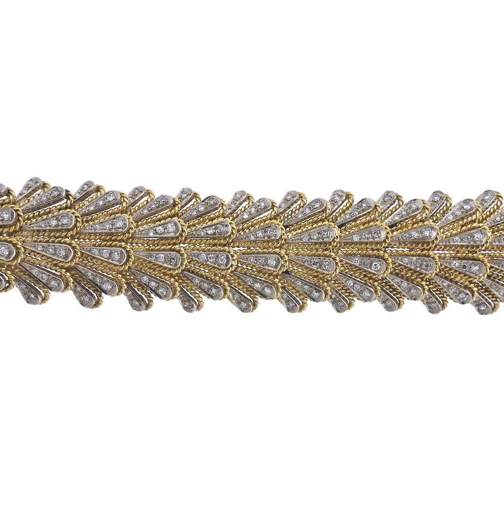 thumbnail image of 1960s Italian Diamond Gold Bracelet