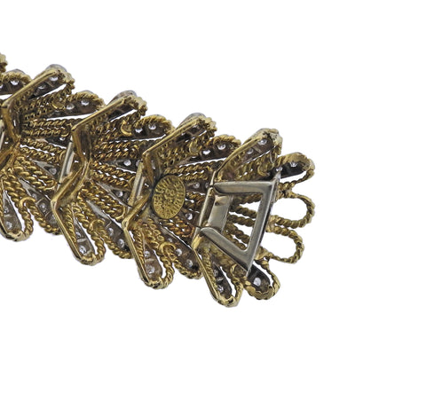 image of 1960s Italian Diamond Gold Bracelet